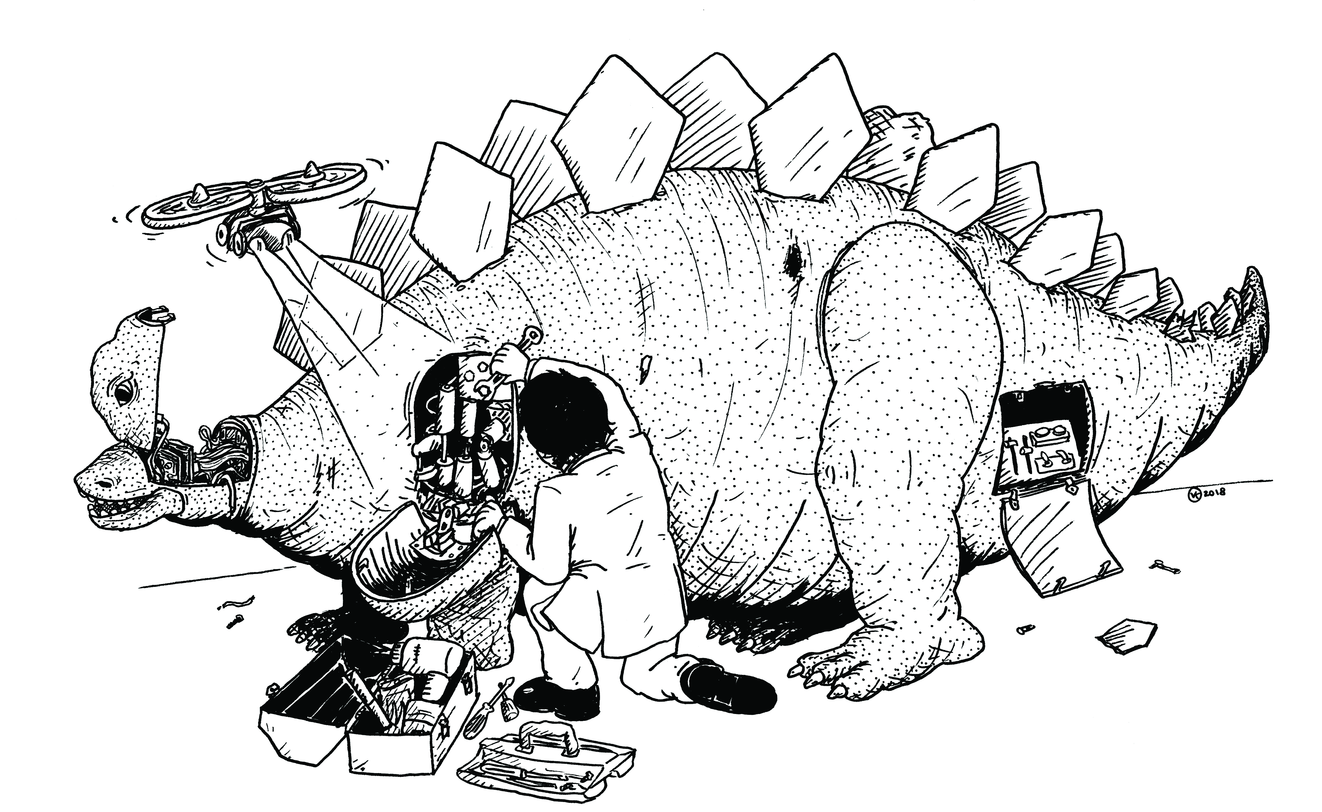 Original Fiction Robot Dinosaurs No Disassemble Stephanie Because To Be Disassembled Is Dead That Artwork By Vincent Konrad
